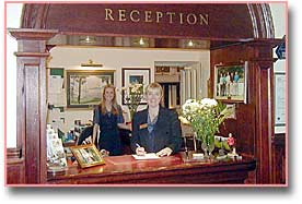 reception, morangie house hotel, scotland